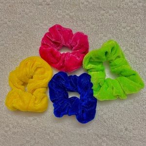 Neon 4pc Scrunchie Set